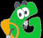 Una G amb motxilla, el logo del grup