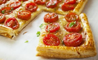 talls de pizza amb cherrys